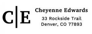 Cheyenne Rectangular Address Stamp