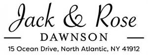 Dawnson Rectangular Address Stamp