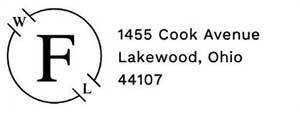 Foster Rectangular Address Stamp