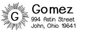 Gomez Rectangular Address Stamp