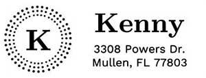 Kenny Rectangular Address Stamp