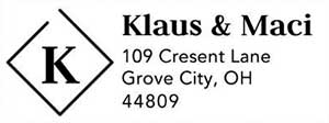 Klaus Rectangular Address Stamp