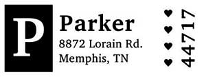 Parker Rectangular Address Stamp