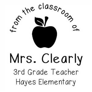 Clearly Teacher Stamp