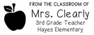 Picture of Clearly Rectangular Teacher Stamp