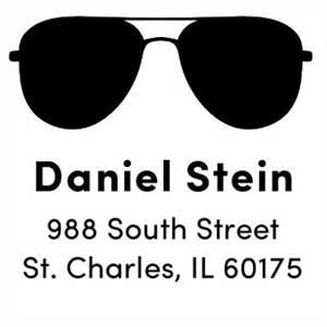 Daniel Wood Mounted Address Stamp