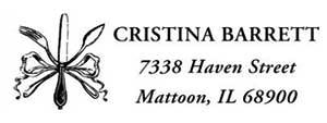 Barrett Rectangular Address Stamp