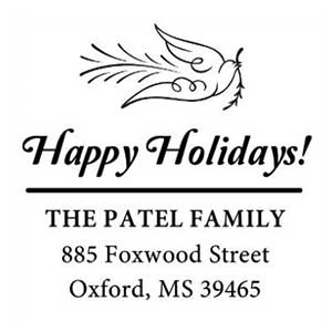 Patel Wood Mounted Holiday Stamp