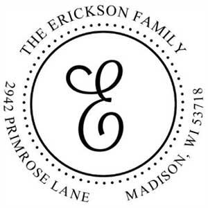 Erikson Address Stamp