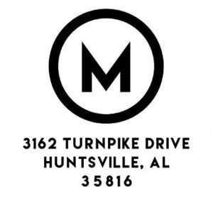 Murphy Wood Mounted Address Stamp