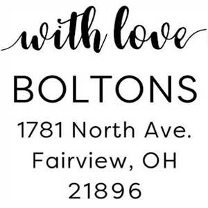 Bolton Square Address Stamp