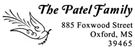 Picture of Patel Rectangular Holiday Stamp