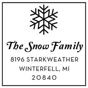 Snow Holiday Stamp
