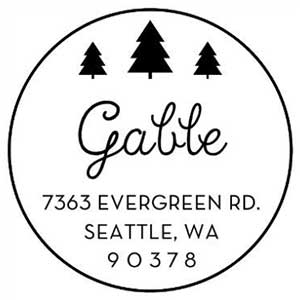 Gable Holiday Stamp