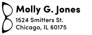 Molly Rectangular Address Stamp