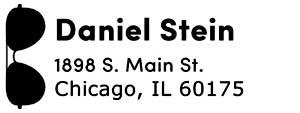 Daniel Rectangular Address Stamp