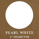 "2"" Round Pearl White Embossing Seals"