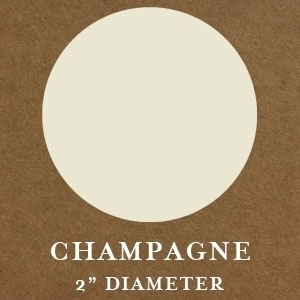 """2"""" Round Champagne Embossing Seals"""