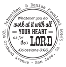 Colossians Wood Mounted Inspirational Stamp