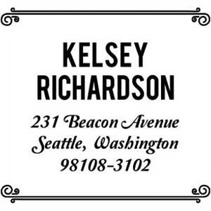 Kelsey Wood Mounted Address Stamp