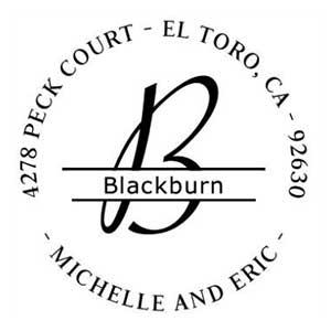 Blackburn Wood Mounted Address Stamp