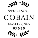 Cobain Wood Mounted Address Stamp