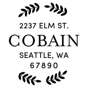 Cobain Wood Mounted Address Stamp