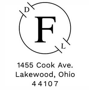 Foster Wood Mounted Address Stamp
