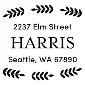 Harris Wood Mounted Address Stamp