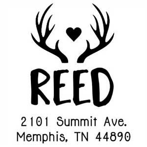 Reed Wood Mounted Address Stamp