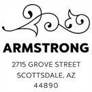 Armstrong Wood Mounted Address Stamp
