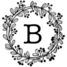 Bennet Wood Mounted Monogram Stamp