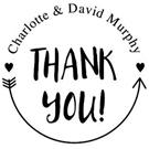 Charlotte Wood Mounted Wedding Stamp
