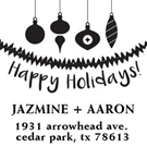 Picture of Jazmine Wood Mounted Holiday Stamp