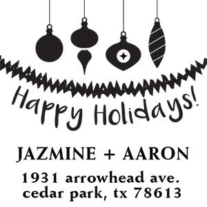 Jazmine Wood Mounted Holiday Stamp