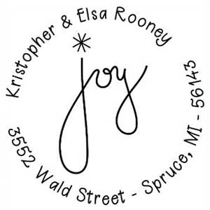 Elsa Wood Mounted Holiday Stamp