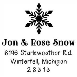 Jon Wood Mounted Holiday Stamp