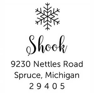 Shook Wood Mounted Holiday Stamp