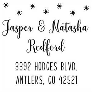 Natasha Wood Mounted Holiday Stamp
