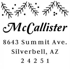 McCallister Wood Mounted Holiday Stamp