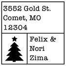Picture of Nori Wood Mounted Holiday Stamp