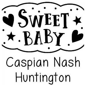 Sweet Baby Birth Announcement Stamp