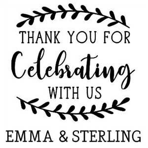 Emma Wedding Stamp