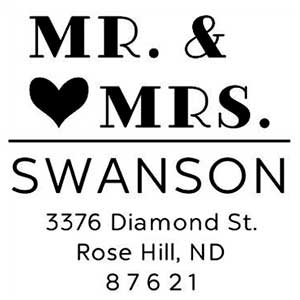 Swanson Wedding Stamp