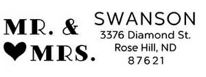 Swanson Rectangular Wedding Stamp