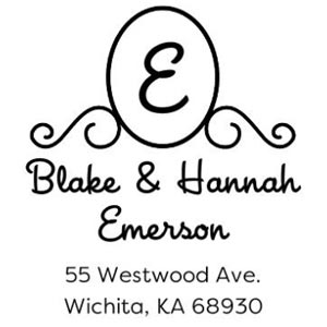 Emerson Wood Mounted Address Stamp