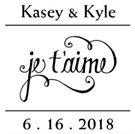 Picture of Kyle Wood Mounted Wedding Stamp