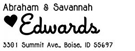 Picture of Savannah Rectangular Address Stamp