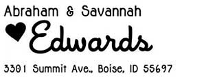 Savannah Rectangular Address Stamp