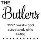 Butler Wood Mounted Address Stamp